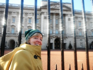 Trying to get into Buckingham Palace