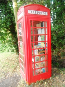 Not quite as many books here as in the new Birmingham library but this is the 'literary phone box' I pass every day when I walk the dog.