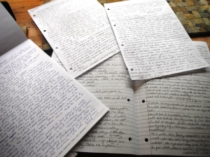 Look at all that writing! By hand, early in the morning..!