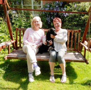 Ninette, me and Bonnie the dog