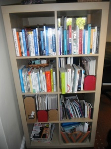 All my 'how to' writing books. I need 'em!