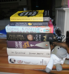 A few of my books, waiting to be read...