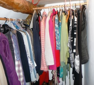 A wardrobe like a rainbow! (But spot the 'interloper'!)