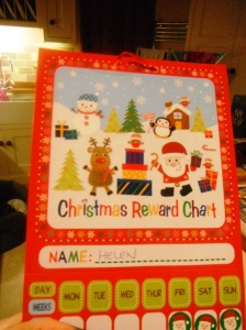 Christmas Reward Chart 2